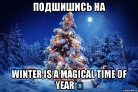 подшишись на winter is a magical time of year ★