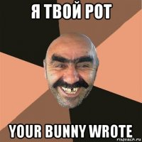 я твой рот your bunny wrote