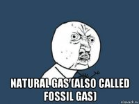natural gas (also called fossil gas)