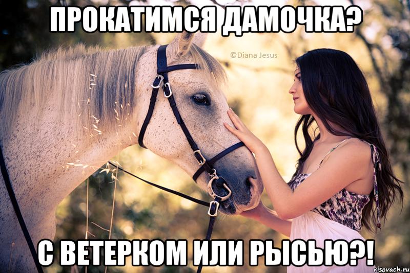 девушка и лошадь скучают по хозяйну с цитатами фотку