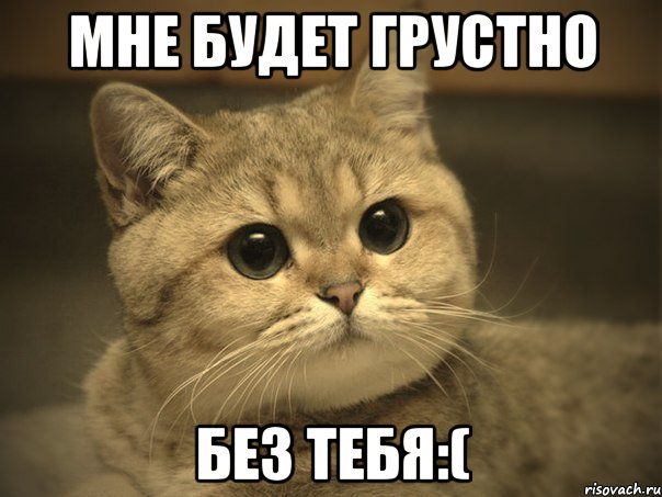 мне без тебя грустно: