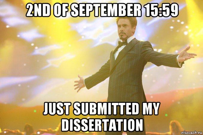 submit my dissertation