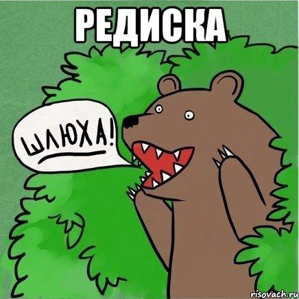 Редиска мем медведь в кустах