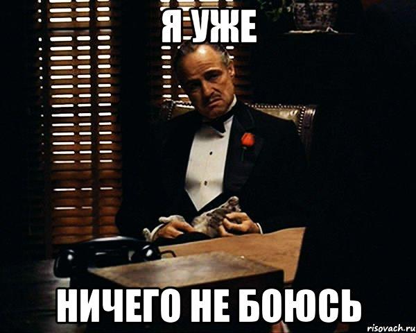 я уже ничего не боюсь, Мем Дон Вито Корлеоне - Рисовач .Ру
