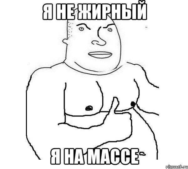 Я не жирный Я на массе, Мем Типичная Кочка 1 - Рисовач .Ру