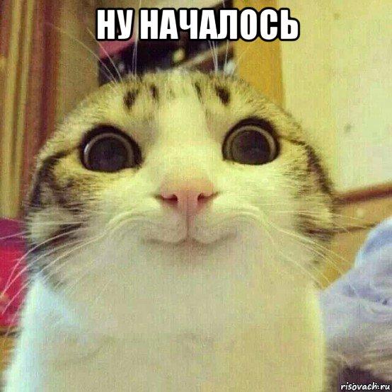 ну началось , Мем Котяка-улыбака - Рисовач .Ру