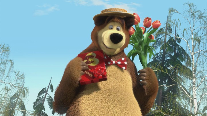 Поздравления из мультика маша и медведь