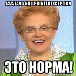 Nullpointerexception что это