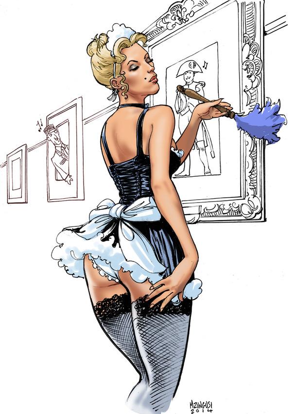 комиксы и и госпожа служанка-рисунки
