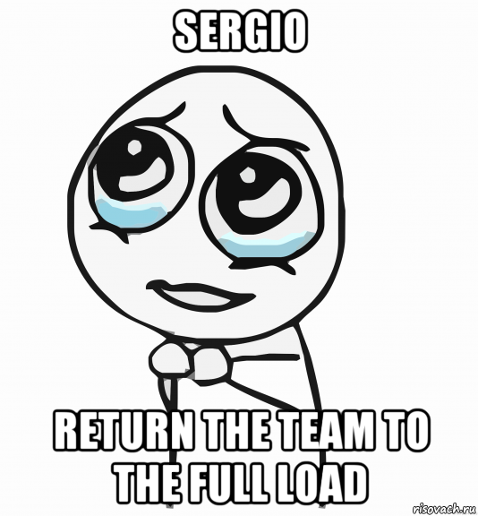sergio return the team to the full load
